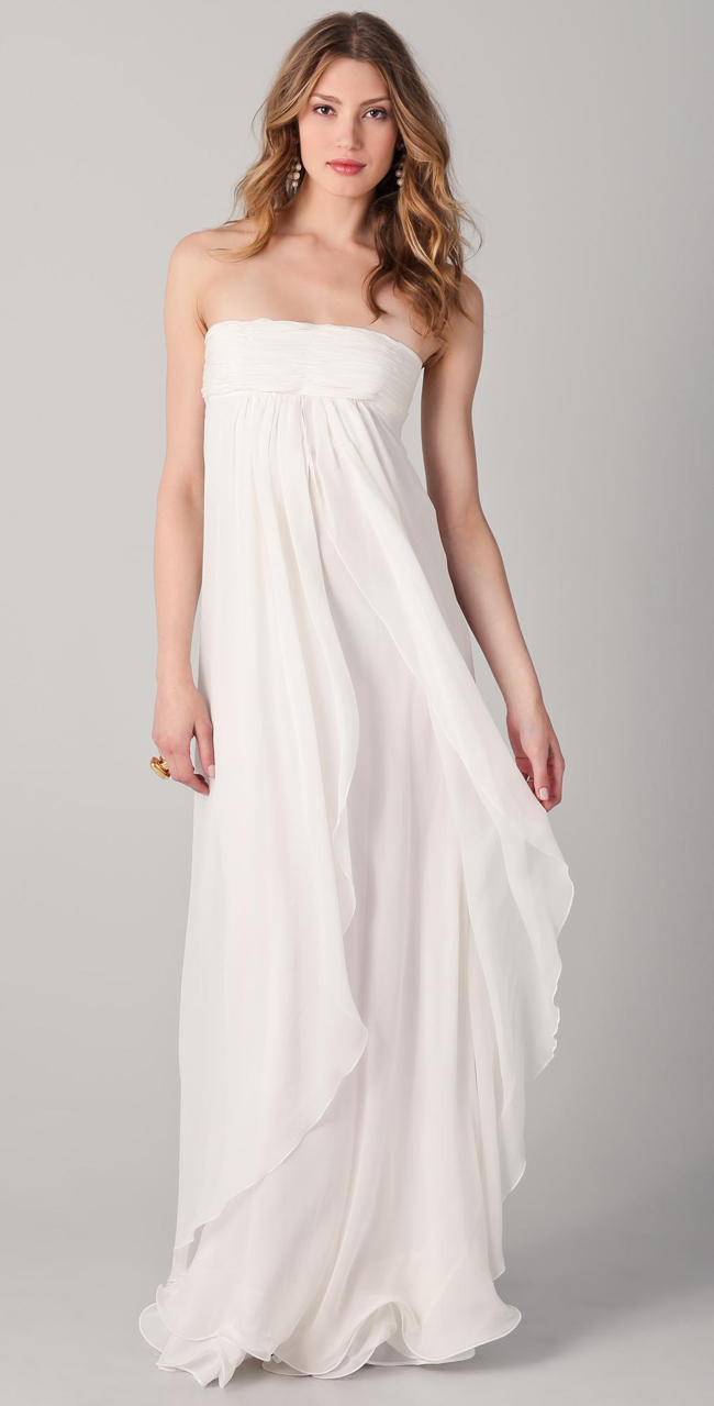 Strapless empire line dress