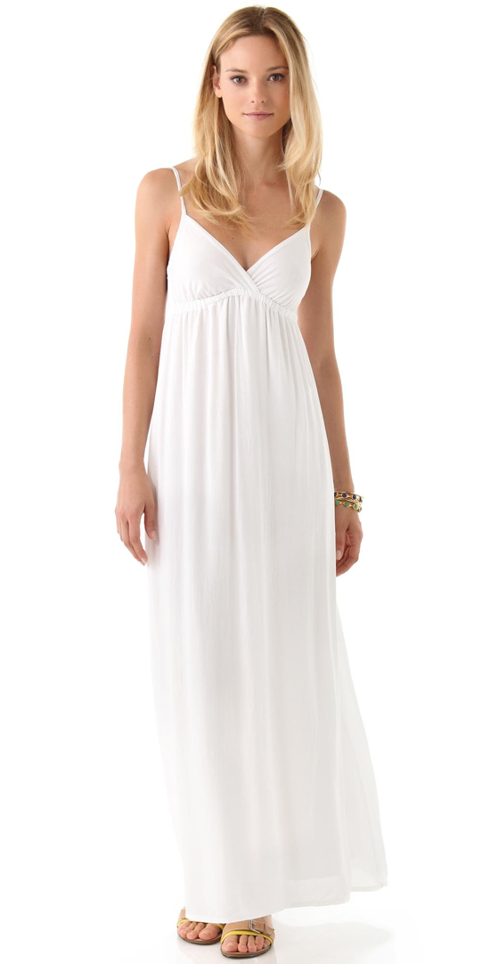 Strappy white maxi dress