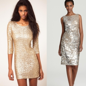 Splurge vs steal: the sequin dress